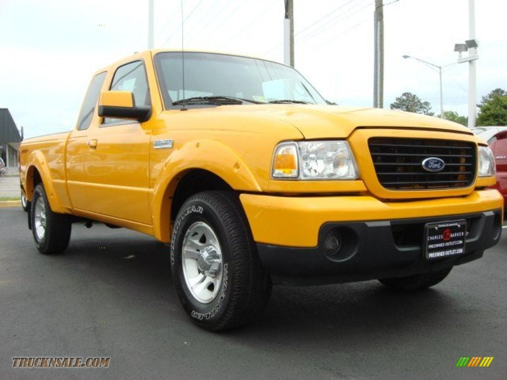 Grabber Orange / Medium Dark Flint Ford Ranger Sport SuperCab