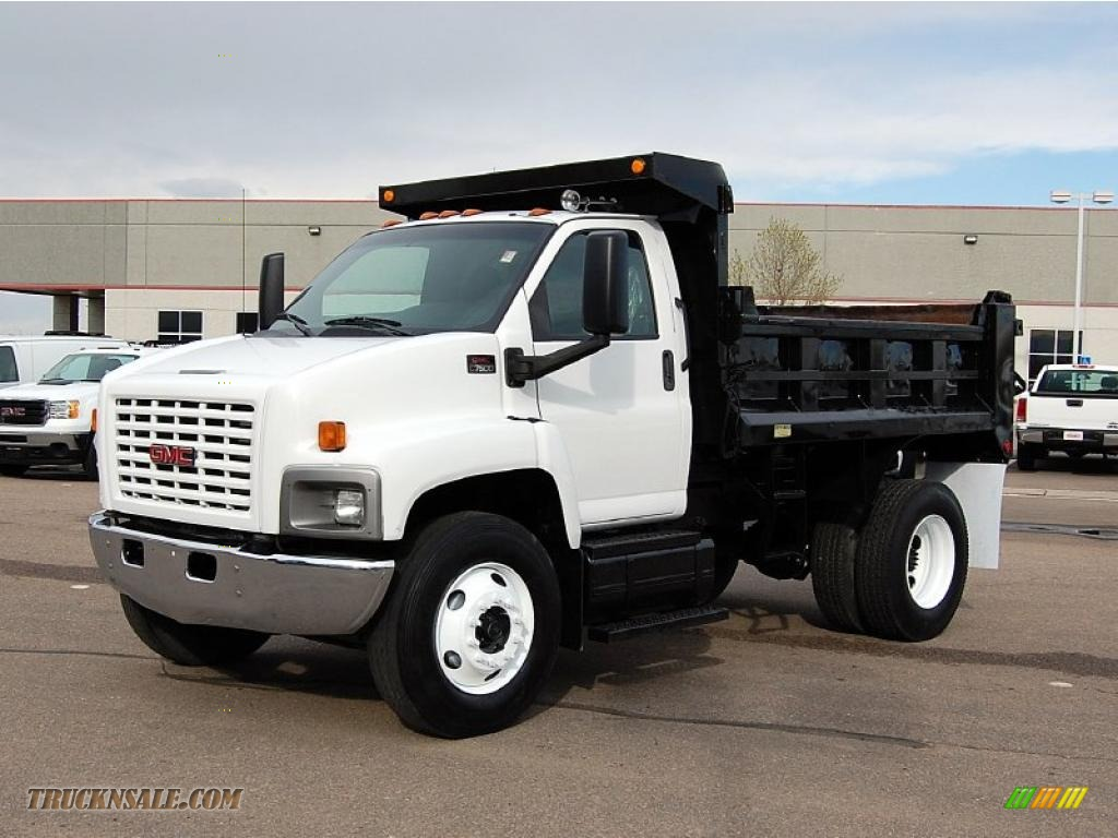 2018 gmc c7500.  gmc summit white  pewter gmc c series topkick c7500 regular cab dump truck intended 2018 gmc c7500
