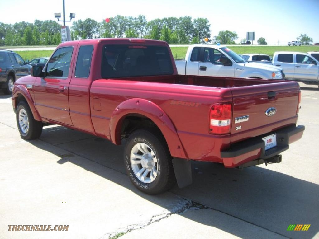 2007 Ford Ranger Sport Supercab In Redfire Metallic Photo