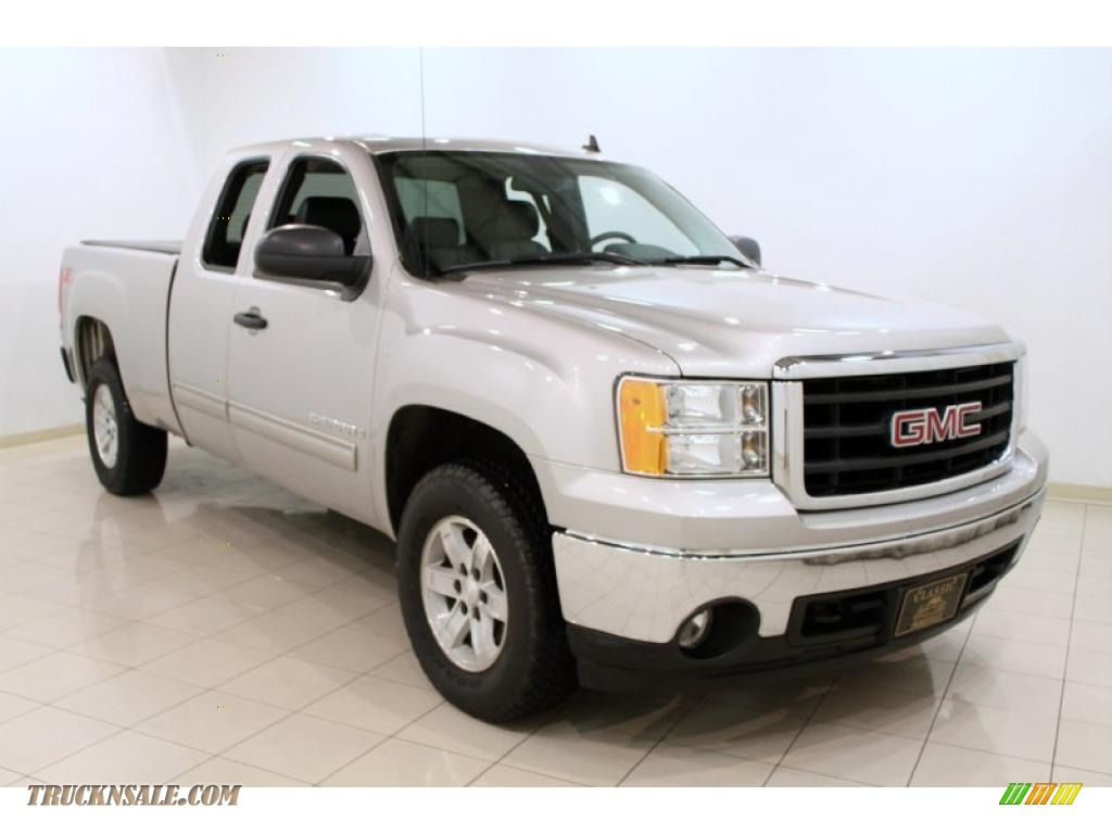 2008 gmc sierra 1500 slt extended cab 4x4 in silver birch. Black Bedroom Furniture Sets. Home Design Ideas