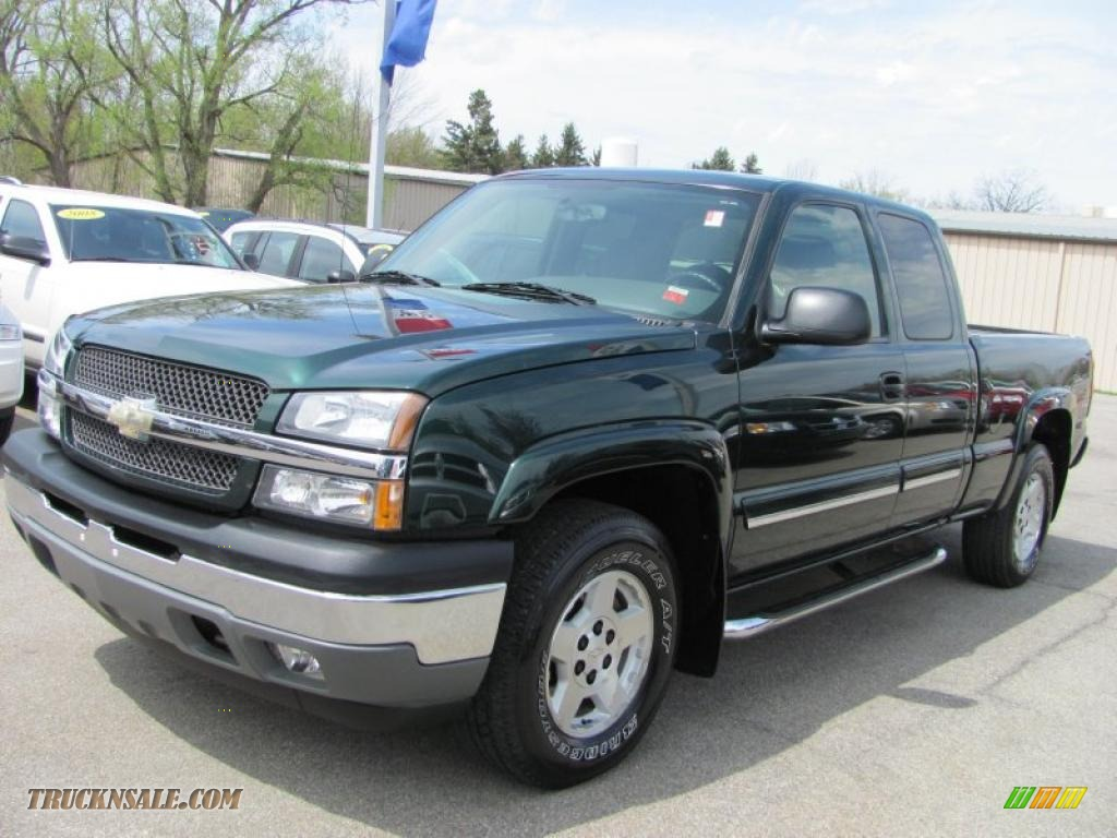 2005 chevrolet silverado 1500 z71 extended cab 4x4 in dark green metallic 295222 truck n 39 sale. Black Bedroom Furniture Sets. Home Design Ideas