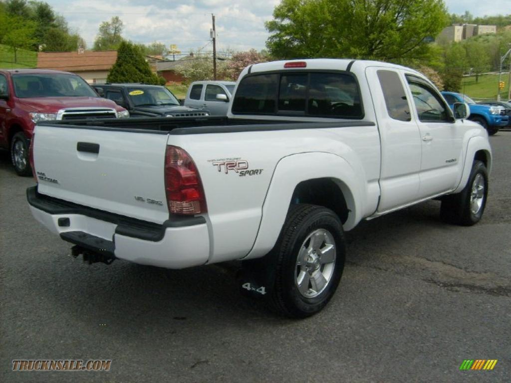 2008 toyota tacoma v6 trd sport access cab 4x4 in super white photo 6 495253 truck n 39 sale. Black Bedroom Furniture Sets. Home Design Ideas