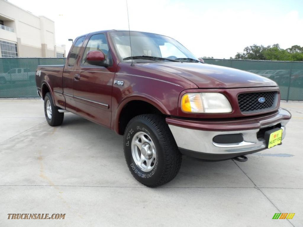 1997 ford f150 xlt extended cab 4x4 in dark toreador red. Black Bedroom Furniture Sets. Home Design Ideas