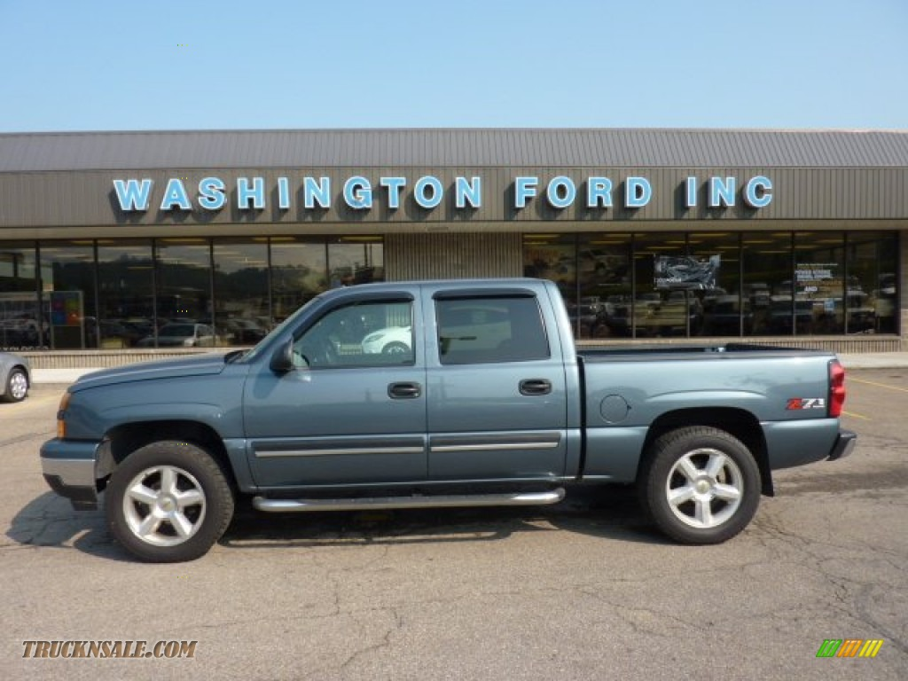 2006 chevrolet silverado 1500 z71 crew cab 4x4 in blue granite metallic 155385 truck n 39 sale. Black Bedroom Furniture Sets. Home Design Ideas