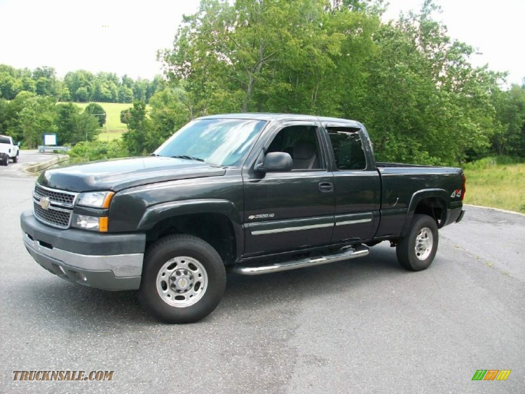 2005 chevrolet silverado 2500hd ls extended cab 4x4 in black 182506 truck n 39 sale. Black Bedroom Furniture Sets. Home Design Ideas