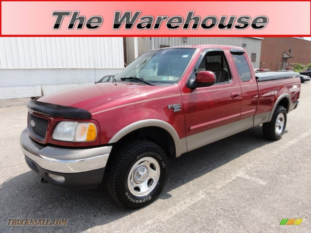 2002 Ford F150 Xlt Supercab 4x4 In Toreador Red Metallic