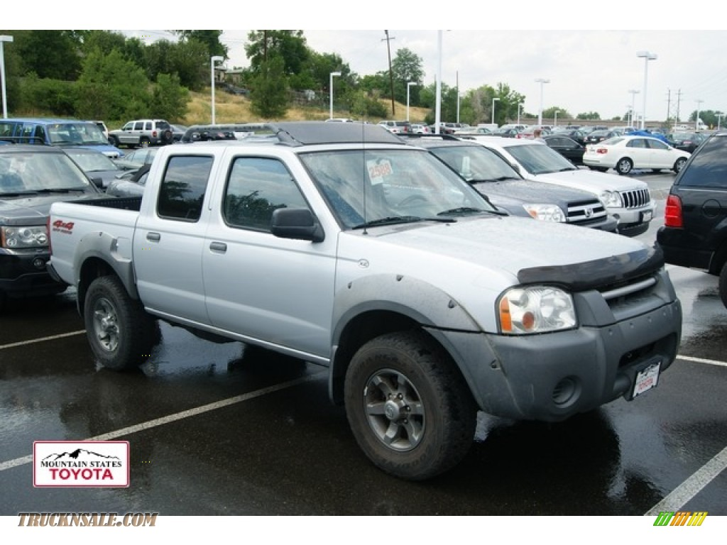 2001 nissan frontier xe v6 crew cab 4x4 in silver ice metallic 399831 truck n 39 sale. Black Bedroom Furniture Sets. Home Design Ideas