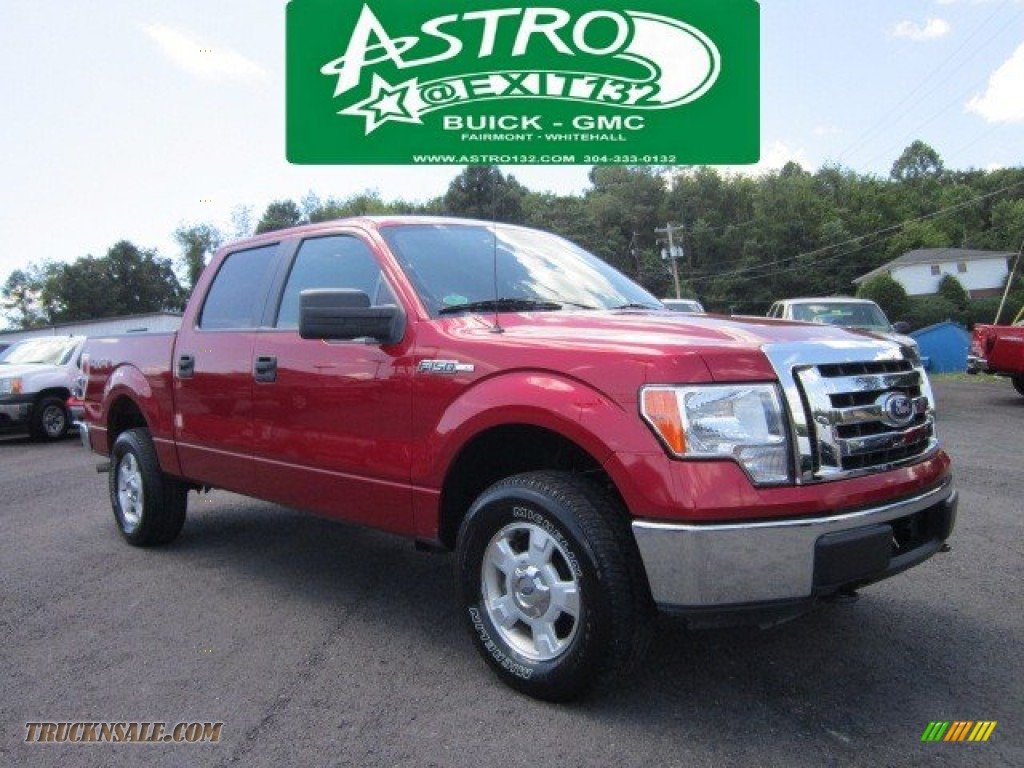 2010 ford f150 xlt supercrew 4x4 in red candy metallic c53330 truck n 39 sale. Black Bedroom Furniture Sets. Home Design Ideas