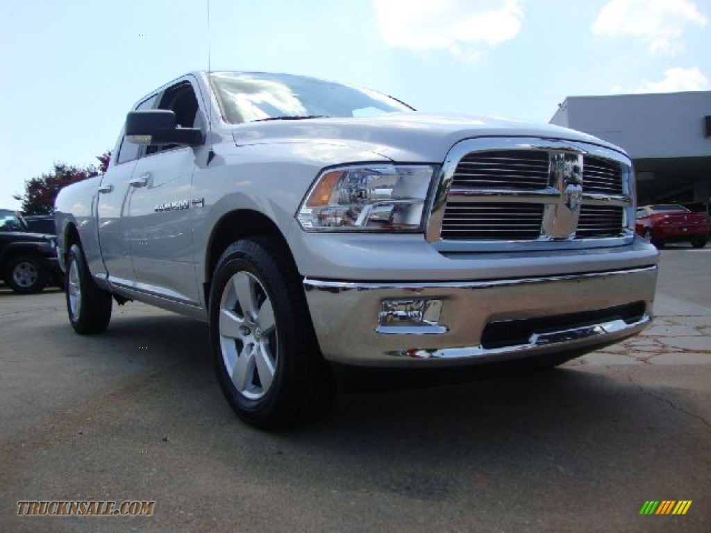2011 dodge ram 1500 big horn quad cab 4x4 in bright silver metallic 706632 truck n 39 sale. Black Bedroom Furniture Sets. Home Design Ideas