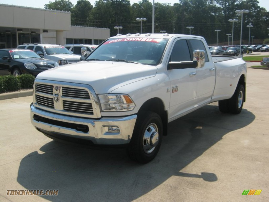 2011 dodge ram 3500 hd laramie crew cab 4x4 dually in bright white 511269 truck n 39 sale. Black Bedroom Furniture Sets. Home Design Ideas