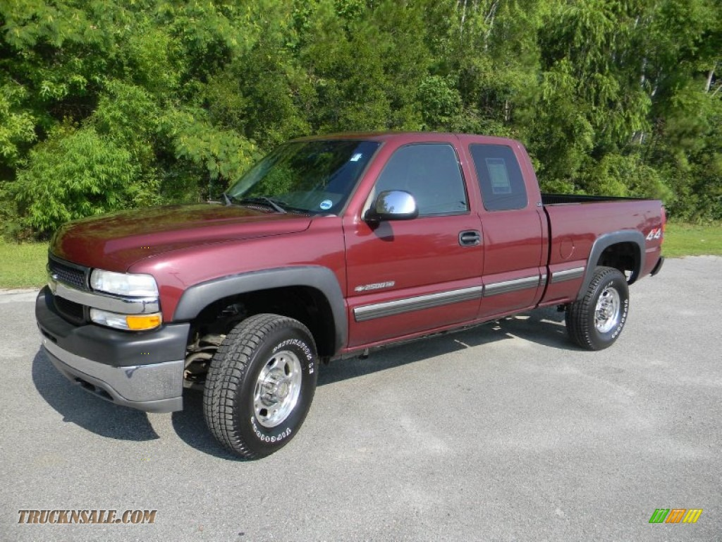 2002 chevrolet silverado 2500 lt extended cab 4x4 in dark carmine red metallic 226991 truck. Black Bedroom Furniture Sets. Home Design Ideas