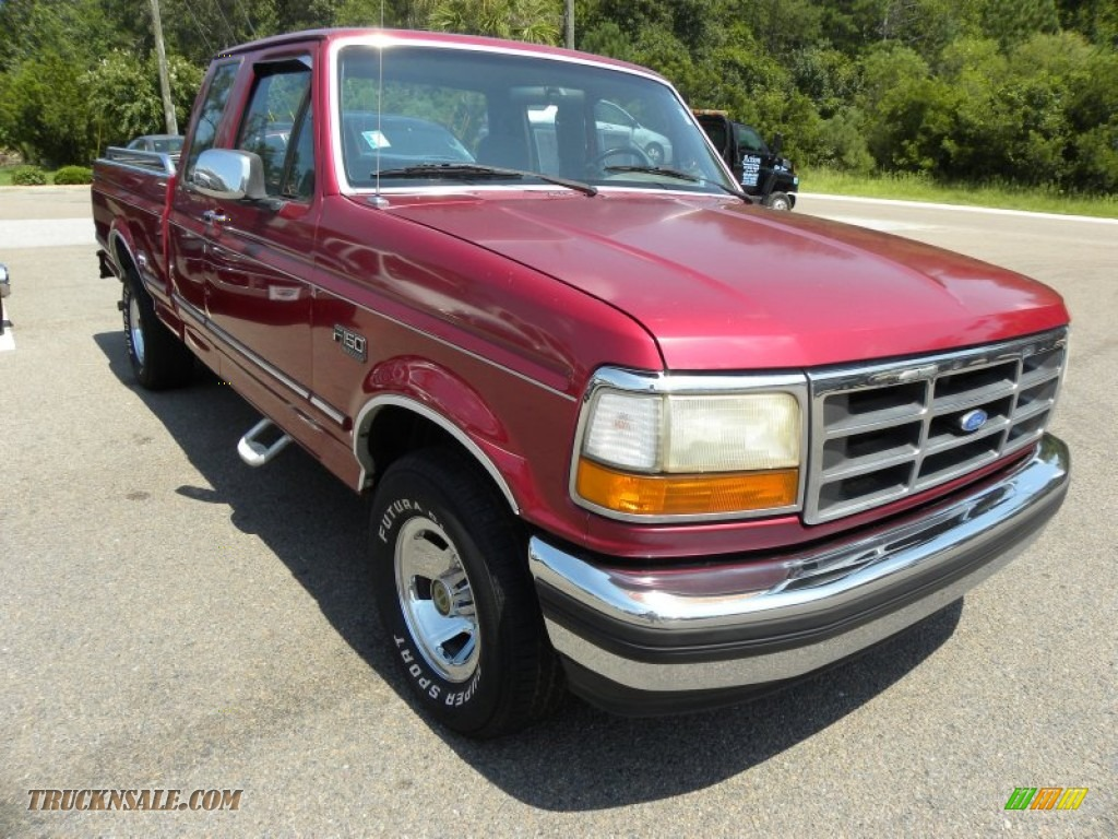 1995 Ford F150 Xlt Extended Cab In Electric Currant Red