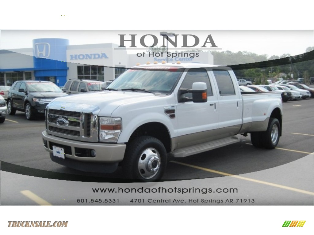 2008 Ford F350 Super Duty King Ranch Crew Cab 4x4 Dually In Oxford White D43936 Truck N 39 Sale