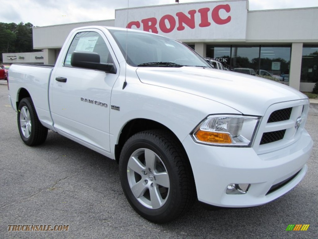 2012 Ram 1500 Express Regular Cab - Bright White / Dark Slate Gray/Medium Graystone photo #1
