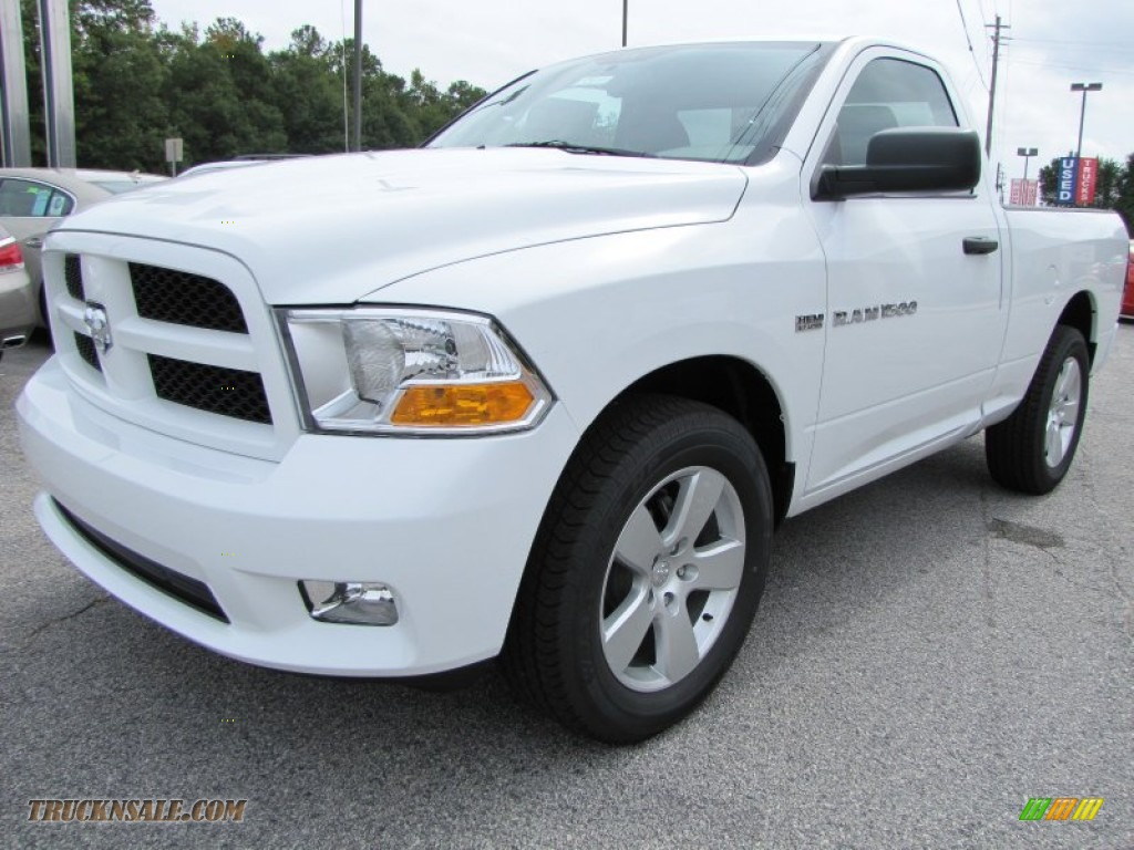 2012 Ram 1500 Express Regular Cab - Bright White / Dark Slate Gray/Medium Graystone photo #3