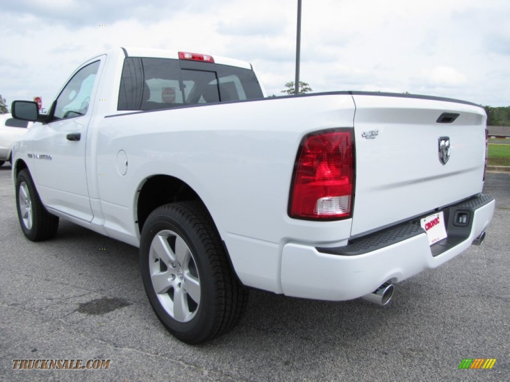2012 Ram 1500 Express Regular Cab - Bright White / Dark Slate Gray/Medium Graystone photo #5