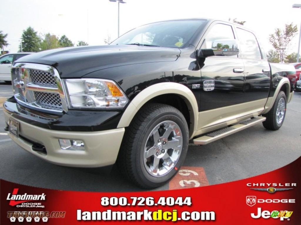 2012 Dodge Ram 1500 Laramie Longhorn Crew Cab In Black 117971 Truck N 39 Sale