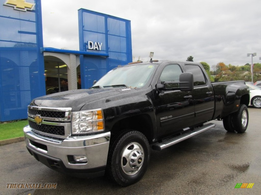2012 chevrolet silverado 3500hd lt crew cab 4x4 dually in black 112575 truck n 39 sale. Black Bedroom Furniture Sets. Home Design Ideas