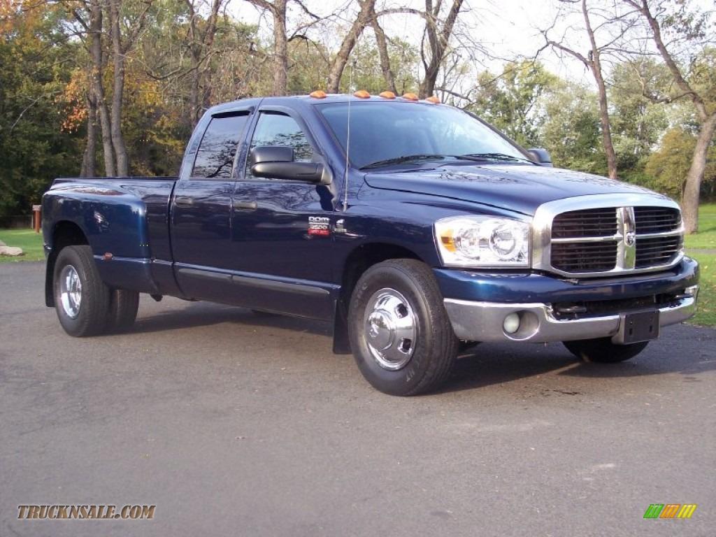 2007 dodge ram 3500 slt quad cab dually in patriot blue pearl 755939 truck n 39 sale. Black Bedroom Furniture Sets. Home Design Ideas