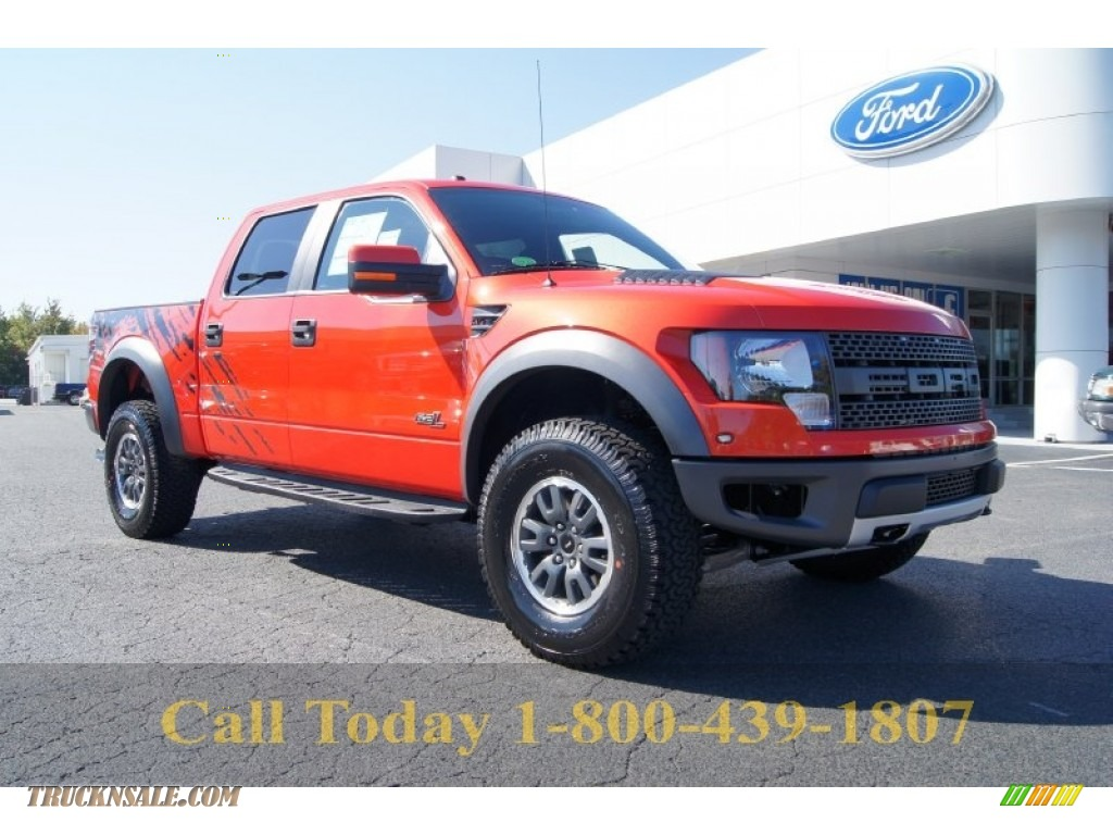 2011 ford f150 svt raptor supercrew 4x4 in molten orange tri coat d01235 truck n 39 sale. Black Bedroom Furniture Sets. Home Design Ideas