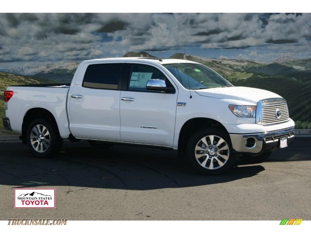 2012 toyota tundra platinum crewmax 4x4 in super white 215218 truck n 39 sale. Black Bedroom Furniture Sets. Home Design Ideas