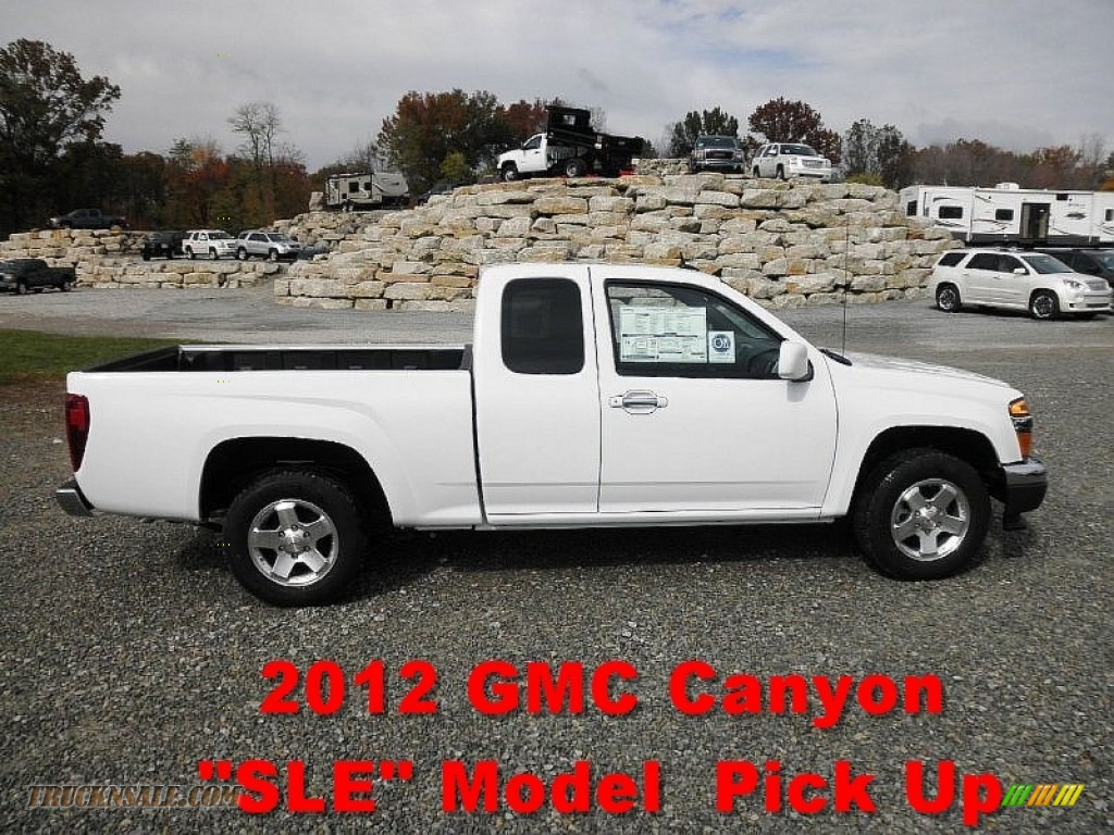 2012 gmc canyon sle extended cab in summit white 116726 truck n 39 sale. Black Bedroom Furniture Sets. Home Design Ideas