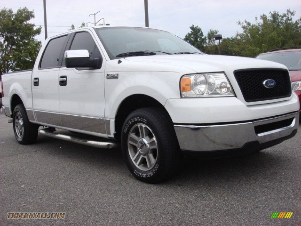 2006 ford f150 xlt supercrew in oxford white a91268 truck n 39 sale. Black Bedroom Furniture Sets. Home Design Ideas