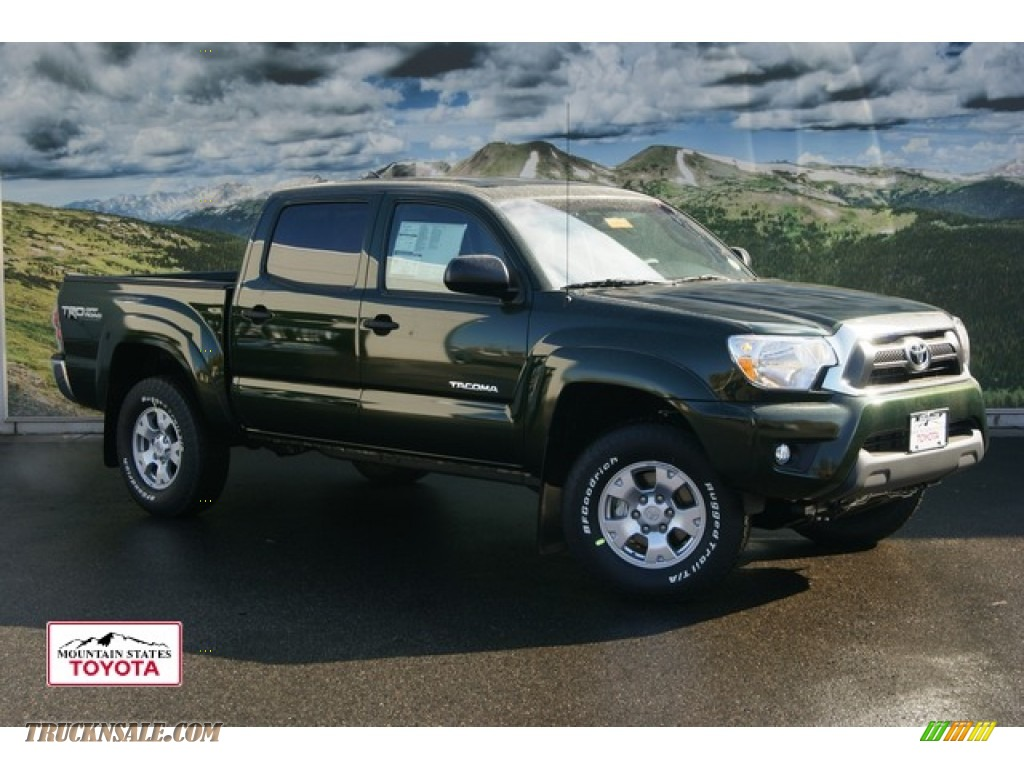2012 toyota tacoma v6 sr5 double cab 4x4 in spruce green mica 084446 truck n 39 sale. Black Bedroom Furniture Sets. Home Design Ideas
