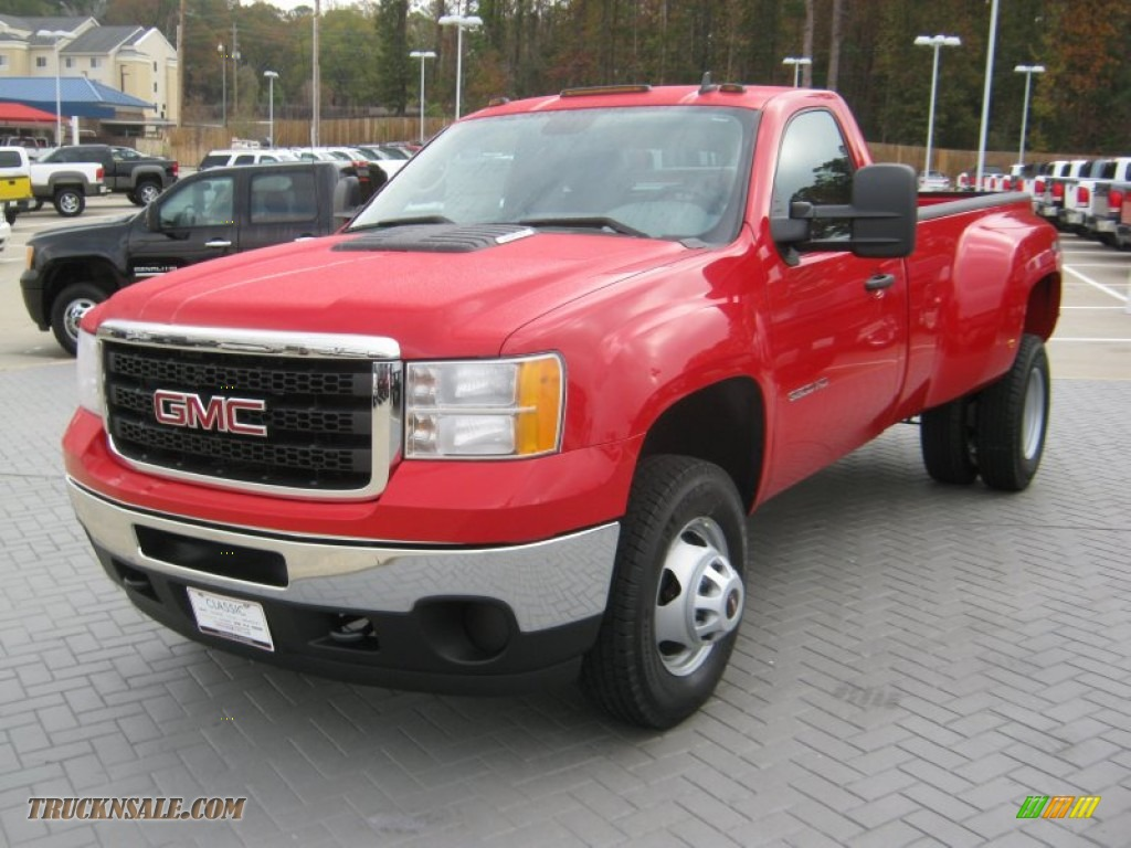 ... 3500HD Regular Cab 4x4 Dually - Fire Red / Dark Titanium photo #1