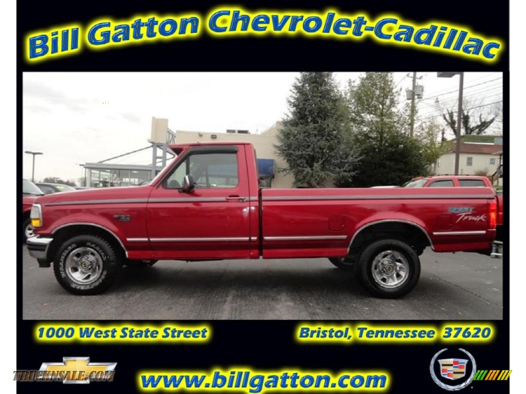 1995 ford f150 xlt regular cab in electric currant red pearl b95932 truck n 39 sale. Black Bedroom Furniture Sets. Home Design Ideas