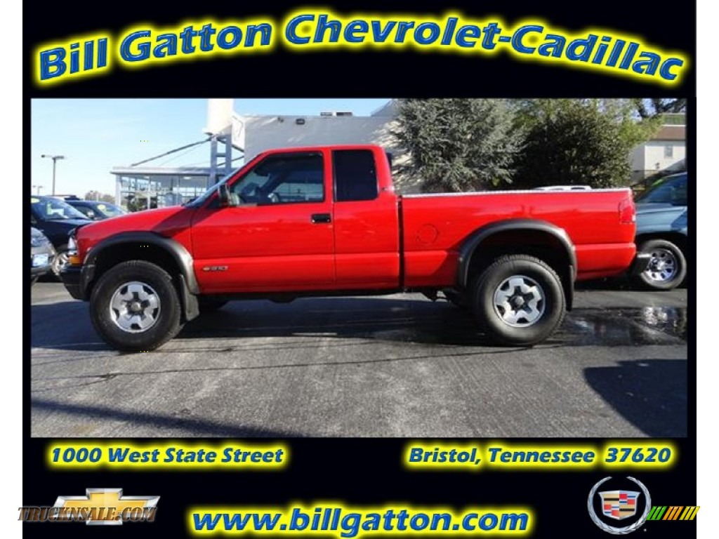 2001 chevrolet s10 zr2 extended cab 4x4 in victory red 141749 truck n 39 sale. Black Bedroom Furniture Sets. Home Design Ideas