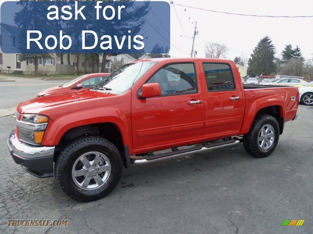 2012 Chevrolet Colorado Lt Crew Cab 4x4 In Inferno Orange