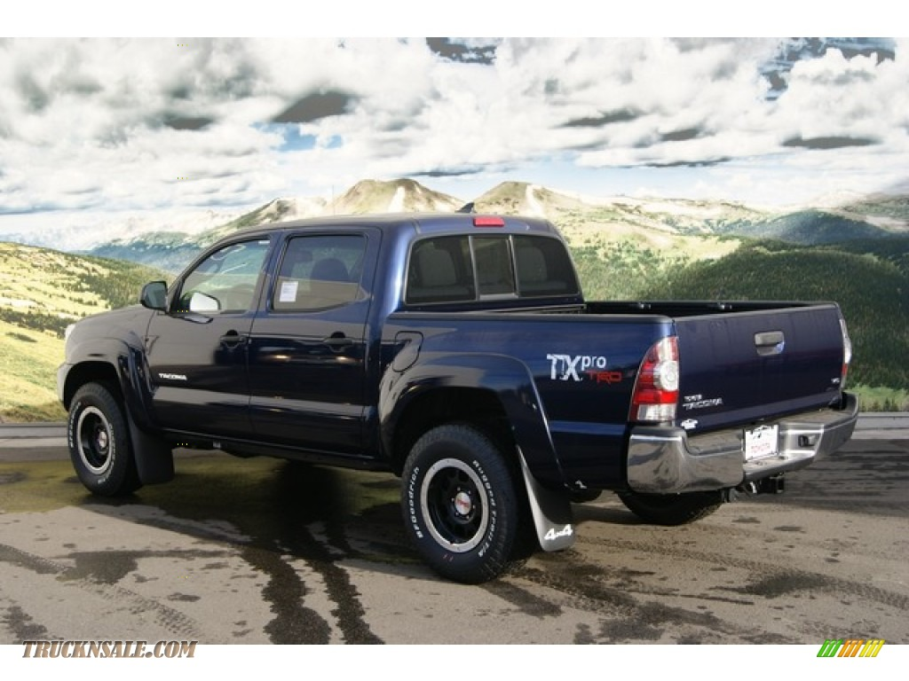2012 toyota tacoma tx pro double cab 4x4 in nautical blue metallic photo 3 087593 truck n 39 sale. Black Bedroom Furniture Sets. Home Design Ideas