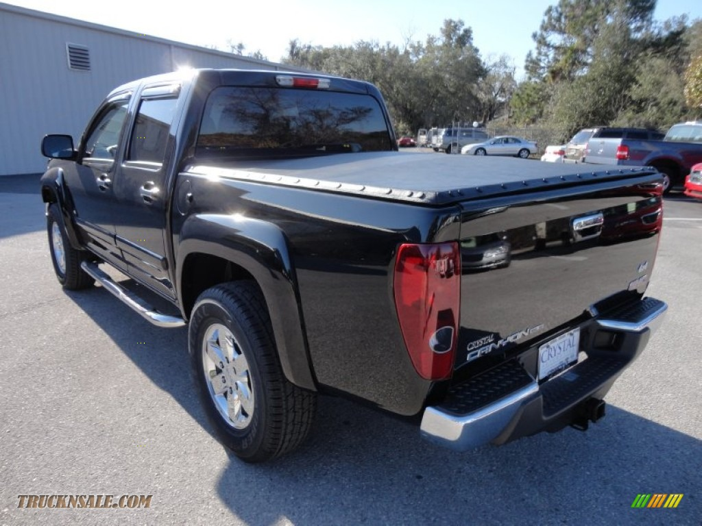 2009 gmc canyon sle crew cab 4x4 in onyx black photo 3 141286 truck n 39 sale. Black Bedroom Furniture Sets. Home Design Ideas