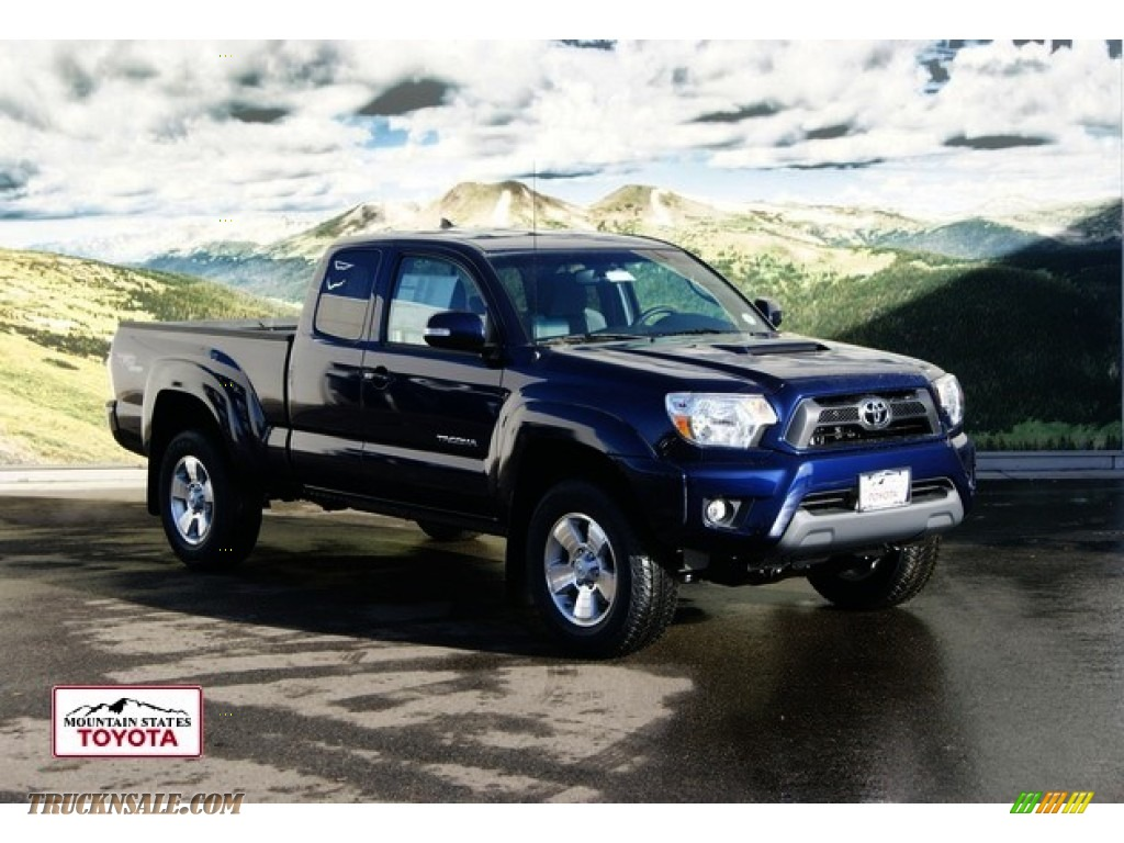 2012 Tacoma V6 TRD Sport Access Cab 4x4 - Nautical Blue Metallic / Graphite photo #1