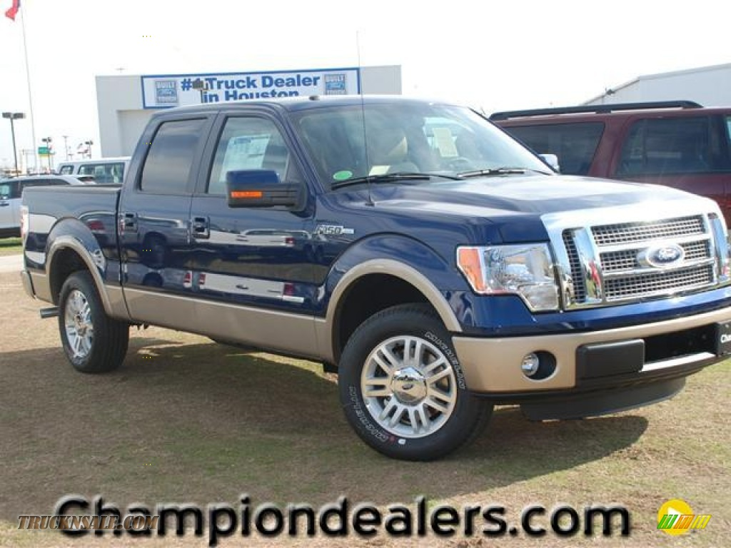 2012 ford f150 lariat supercrew in dark blue pearl metallic a40501 truck n 39 sale. Black Bedroom Furniture Sets. Home Design Ideas