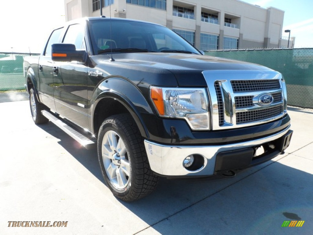 2012 ford f150 lariat supercrew 4x4 in tuxedo black metallic a48087 truck n 39 sale. Black Bedroom Furniture Sets. Home Design Ideas
