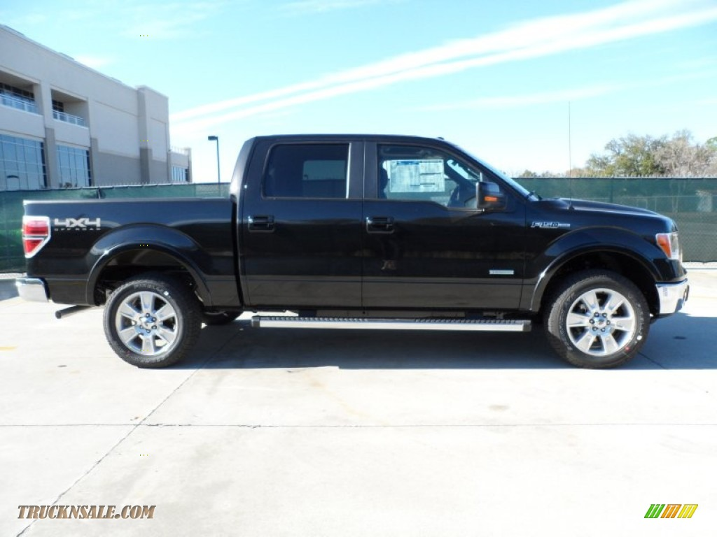 2012 ford f150 lariat supercrew 4x4 in tuxedo black metallic photo 2 a48087 truck n 39 sale. Black Bedroom Furniture Sets. Home Design Ideas
