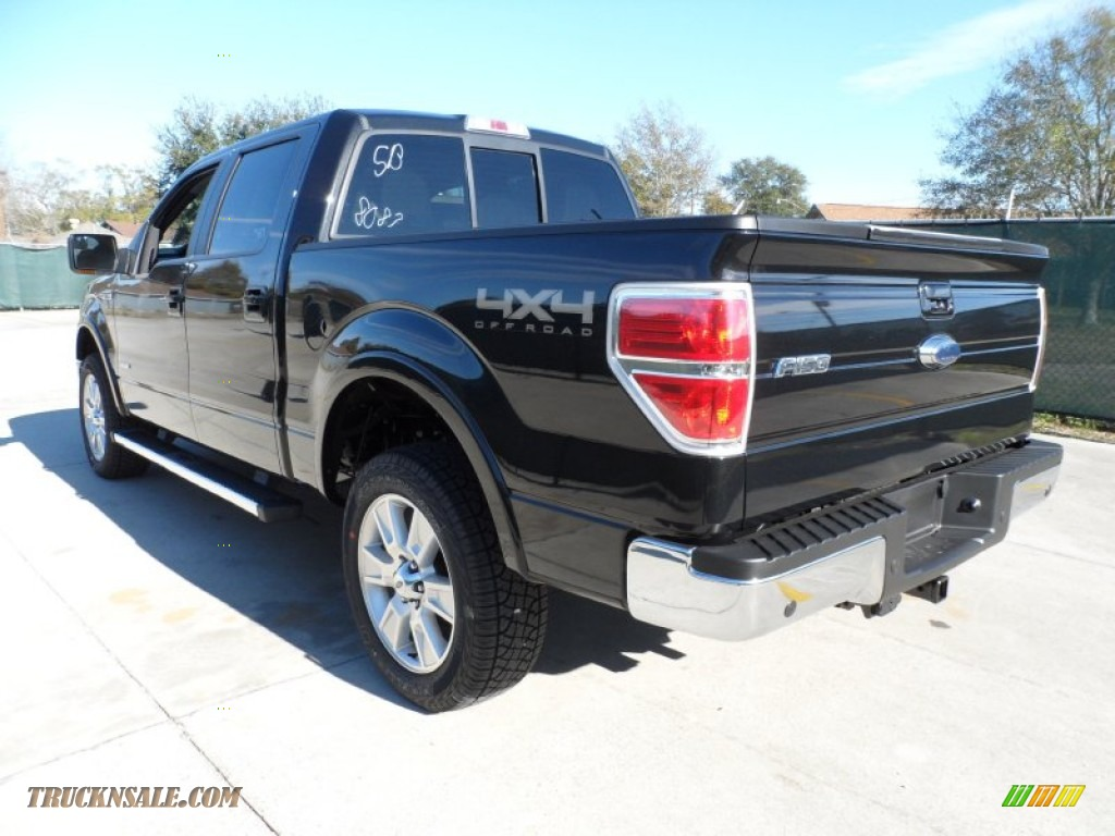 2012 ford f150 lariat supercrew 4x4 in tuxedo black metallic photo 5 a48087 truck n 39 sale. Black Bedroom Furniture Sets. Home Design Ideas