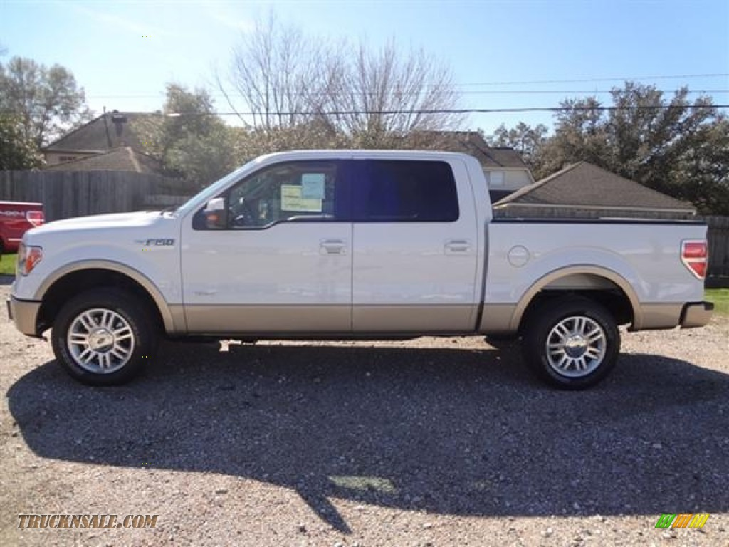 2012 ford f150 lariat supercrew in oxford white photo 4 a40502 truck n 39 sale. Black Bedroom Furniture Sets. Home Design Ideas