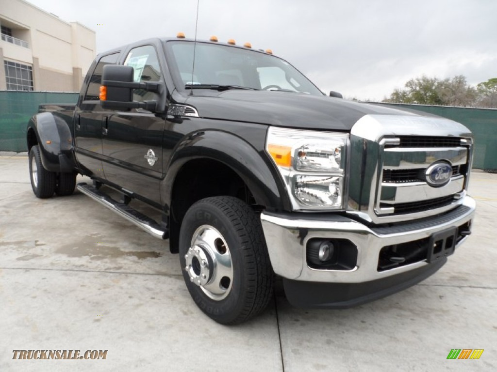 2012 ford f350 super duty lariat crew cab 4x4 dually in tuxedo black metallic b15954 truck n. Black Bedroom Furniture Sets. Home Design Ideas