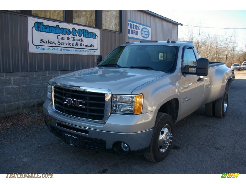 2007 gmc sierra 3500hd sle regular cab dually in silver birch metallic 543733 truck n 39 sale. Black Bedroom Furniture Sets. Home Design Ideas