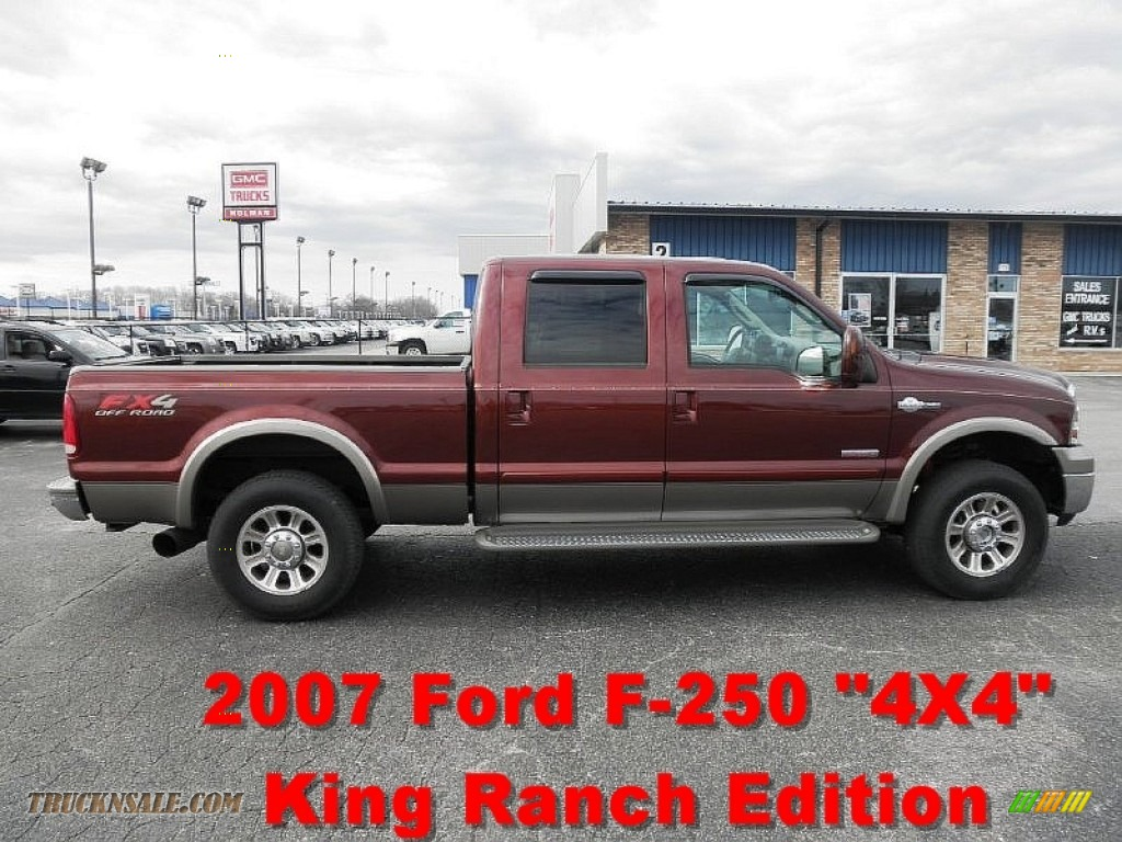 2007 Ford F250 Super Duty King Ranch Crew Cab 4x4 In Dark Copper Metallic B07314 Truck N 39 Sale