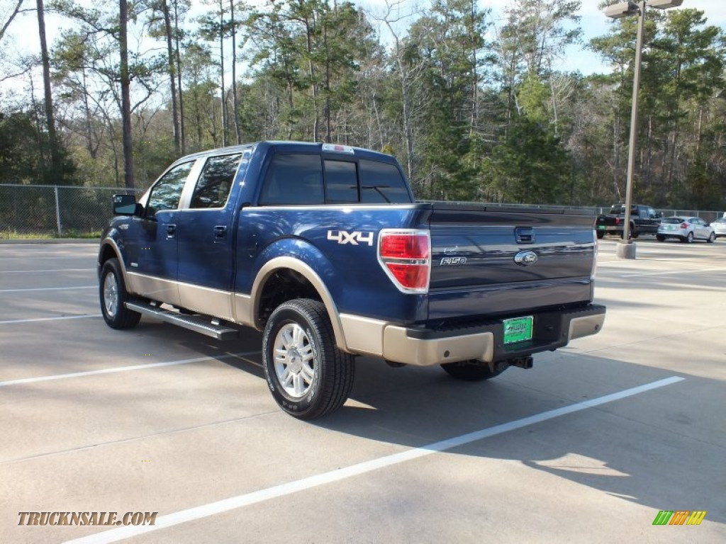 2012 ford f150 lariat supercrew 4x4 in dark blue pearl metallic photo 5 a69912 truck n 39 sale. Black Bedroom Furniture Sets. Home Design Ideas