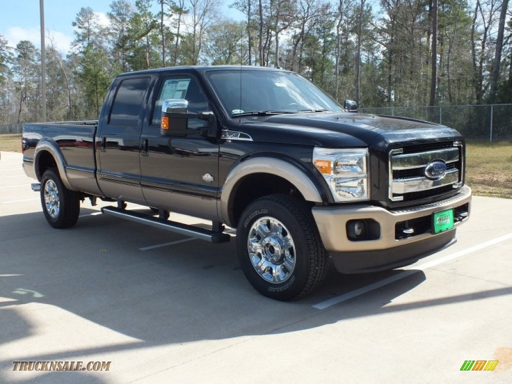 2012 ford f350 super duty king ranch crew cab 4x4 in tuxedo black metallic b29259 truck n 39 sale