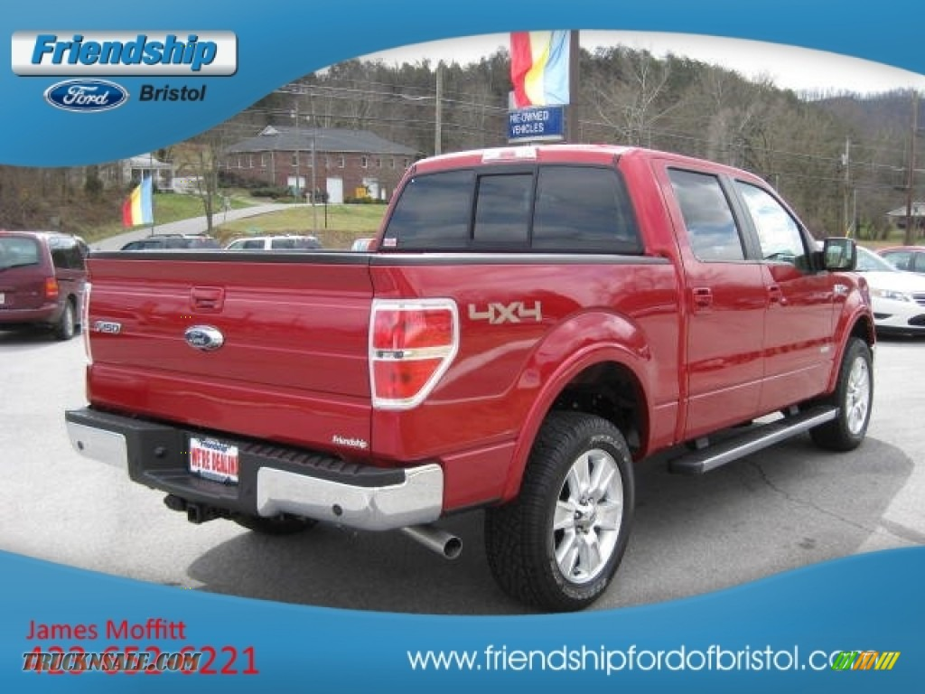 2012 ford f150 lariat supercrew 4x4 in red candy metallic photo 6 a34230 truck n 39 sale. Black Bedroom Furniture Sets. Home Design Ideas
