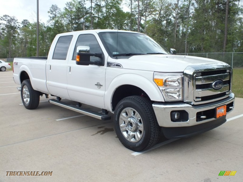 2012 ford f350 super duty lariat crew cab 4x4 in white platinum metallic tri coat b32474. Black Bedroom Furniture Sets. Home Design Ideas