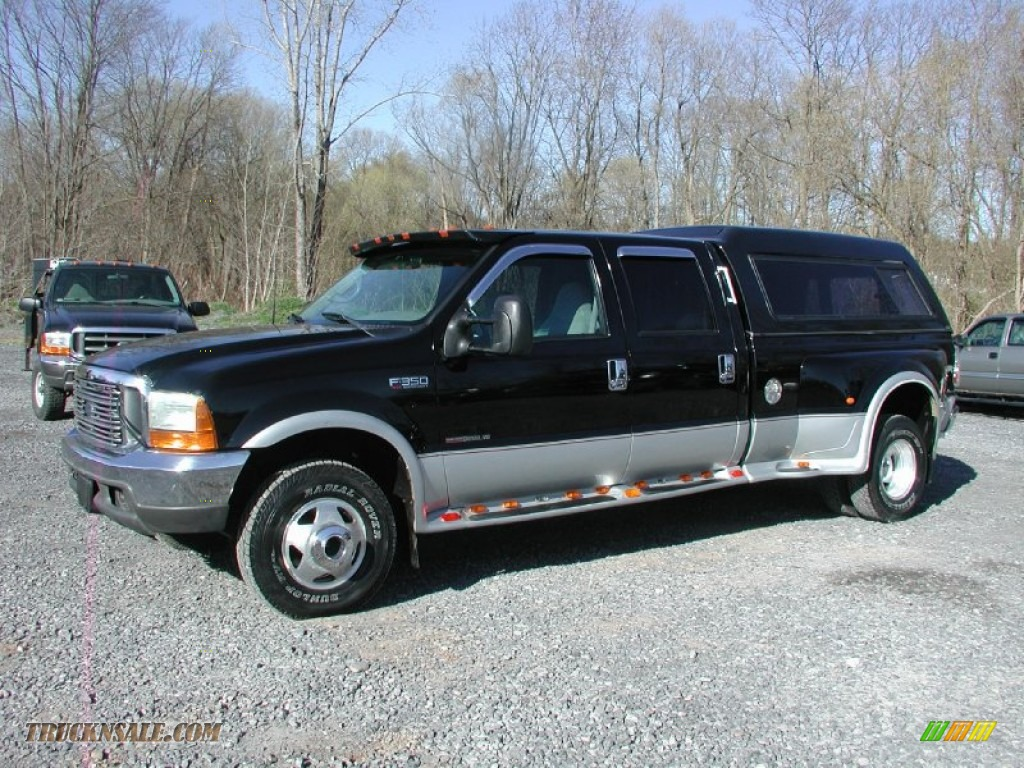 2000 F350 Super Duty XLT Crew Cab 4x4 Dually - Black / Medium Graphite photo #2