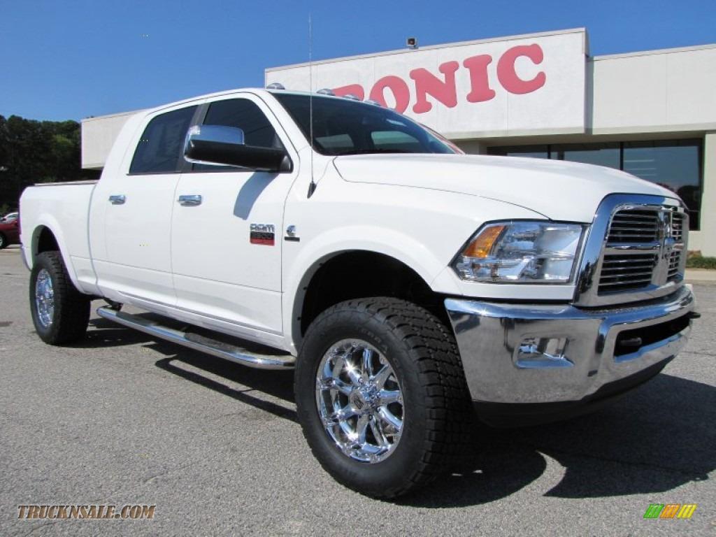 2012 dodge ram 2500 hd laramie mega cab 4x4 in bright white 203846 truck n 39 sale. Black Bedroom Furniture Sets. Home Design Ideas