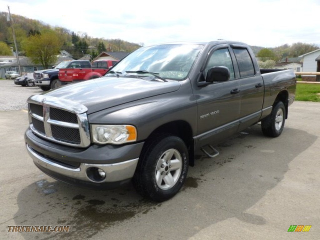 2002 dodge ram 1500 slt quad cab 4x4 in graphite metallic 121761 truck n 39 sale. Black Bedroom Furniture Sets. Home Design Ideas
